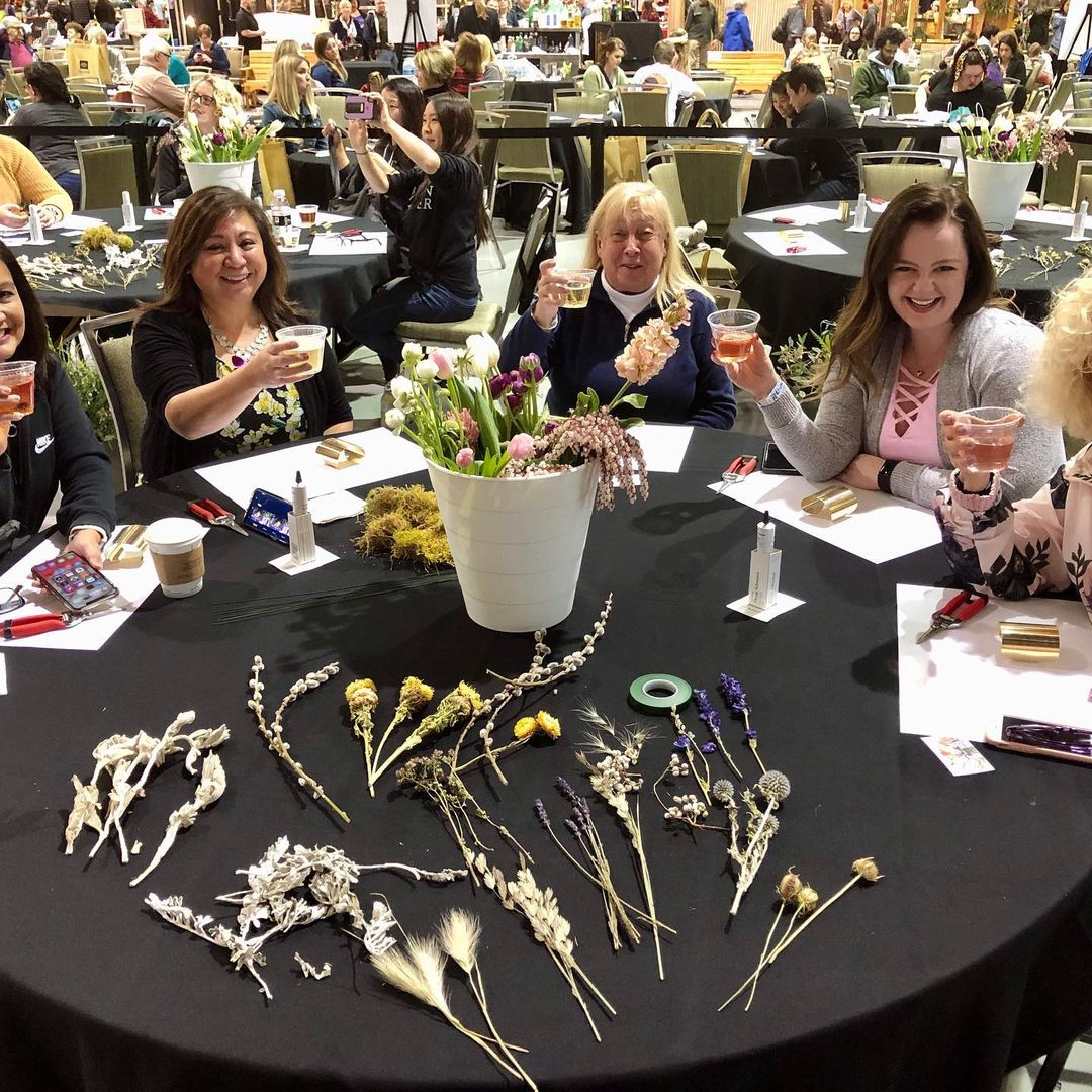 flower class at northwest flower and garden show seattle