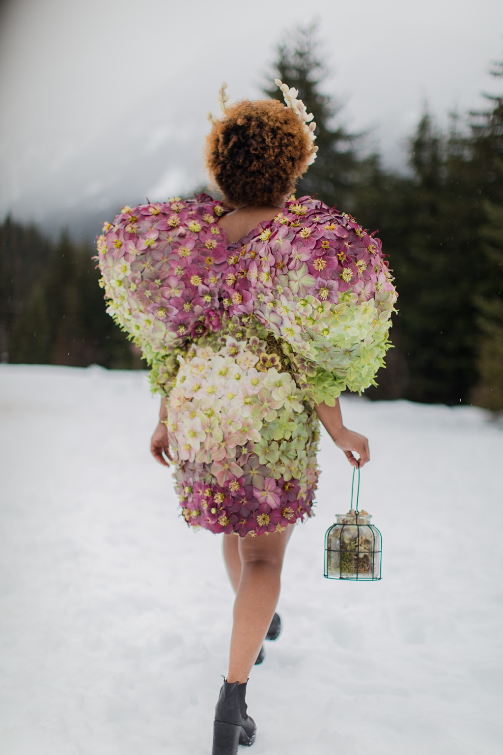 The back of the hellebore dress